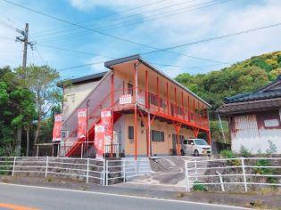 鹿児島県薩摩川内市西方町の賃貸アパートの外観