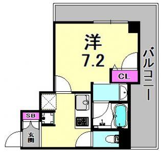 アーイ塚口[6階]の間取り