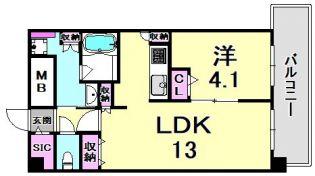 スプランディット王子公園 8階の賃貸【兵庫県 / 神戸市灘区】