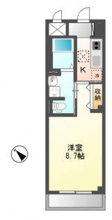 埼玉県坂戸市薬師町の賃貸マンションの間取り