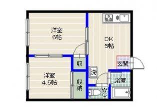 セピアージョ田島[2階]の間取り