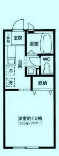 東京都世田谷区玉川3丁目の賃貸アパートの間取り