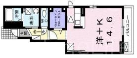 メゾン離宮前Ⅱ[1階]の間取り