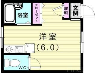 塩屋荘Ⅱ[203号室]の間取り