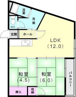 兵庫県神戸市垂水区南多聞台3丁目の賃貸マンションの間取り